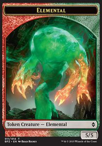 Tokens Magic Magic the Gathering Token/Jeton - Bataille De Zendikar - 11/14 Elemental Rouge/vert
