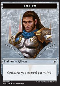 Tokens Magic Magic the Gathering Token/jeton - Bataille De Zendikar - 12/14 Embleme - Gideon