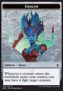 Token Magic Token/Jeton - Bataille De Zendikar - 14/14 Embleme - Kiora