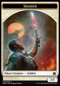 Tokens Magic Magic the Gathering Token/Jeton - Modern Masters 2015 - 04/16 Soldat