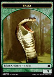 Token Magic Magic the Gathering Token/Jeton - Modern Masters 2015 - 12/16 Serpent