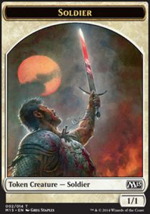 Tokens Magic Magic the Gathering Token/Jeton - Magic 2015 - Soldat