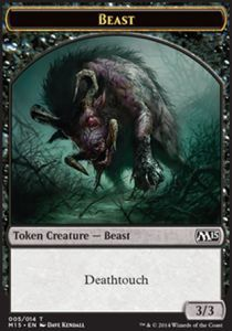 Tokens Magic Magic the Gathering Token/Jeton - Magic 2015 - Bête (noir)