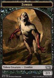 Token Magic Magic the Gathering Token/Jeton - Magic 2015 - Zombie