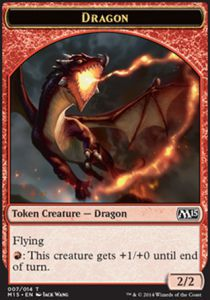 Tokens Magic Magic the Gathering Token/Jeton - Magic 2015 - Dragon