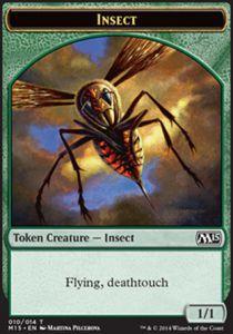 Tokens Magic Magic the Gathering Token/Jeton - Magic 2015 - Insecte