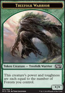 Tokens Magic Magic the Gathering Token/Jeton - Magic 2015 - Sylvin Et Guerrier