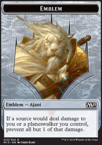 Tokens Magic Magic the Gathering Token/Jeton - Magic 2015 - Embleme Ajani