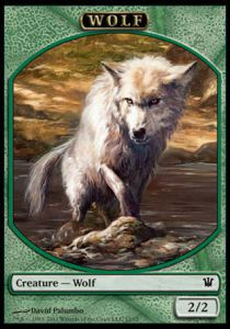 Tokens Magic Magic the Gathering Token/Jeton - Magic 2015 - Loup