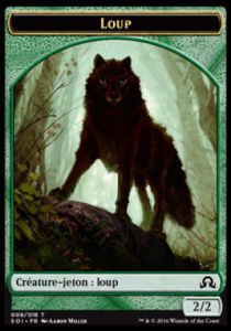 Tokens Magic Magic the Gathering Token/Jeton - Ténèbres sur Innistrad - 09/18 Loup