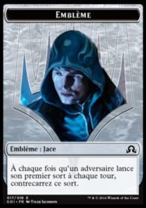 Tokens Magic Magic the Gathering Token/Jeton - Ténèbres sur Innistrad - Embleme Jace