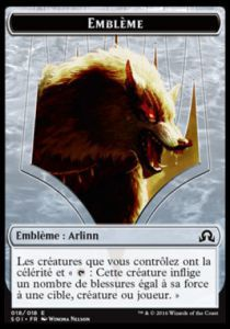 Tokens Magic Token/Jeton - Ténèbres sur Innistrad - 18/18 Embleme Arlinn