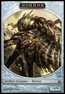 Tokens Magic Magic the Gathering Token/Jeton - Mirrodin Assiégé -  Horreur