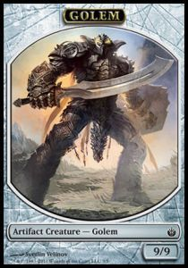 Tokens Magic Magic the Gathering Token/Jeton - Mirrodin Assiégé - Golem