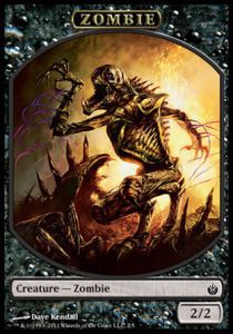 Tokens Magic Magic the Gathering Token/Jeton - Mirrodin Assiégé -  Zombie
