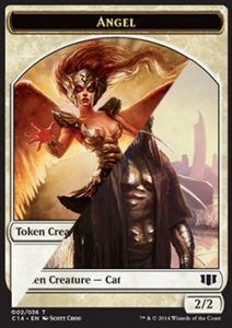Tokens Magic Magic the Gathering Token/Jeton - Commander 2014 - Double : Ange/chat