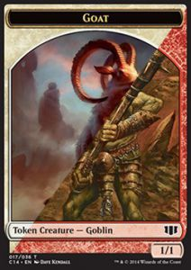Tokens Magic Magic the Gathering Token/Jeton - Commander 2014 - Double : Gobelin/chevre