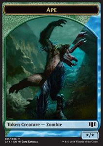 Tokens Magic Accessoires Pour Cartes Token/Jeton - Commander 2014 - Double : Grand Singe/zombie U