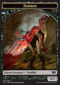 Token Magic Magic the Gathering Token/Jeton - Commander 2014 - Double : Horreur/ Zombie B