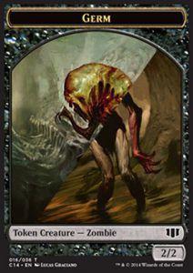 Token Magic Token/Jeton - Commander 2014 - Double : Germe/ Zombie B