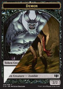 Token Magic Magic the Gathering Token/Jeton - Commander 2014 - Double : Demon ** / Zombie B