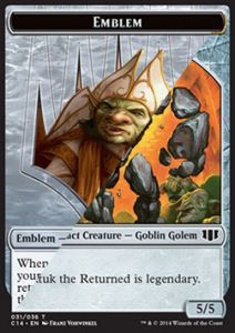 Tokens Magic Magic the Gathering Token/Jeton - Commander 2014 - Double : Embleme (doretti) /tuktuk