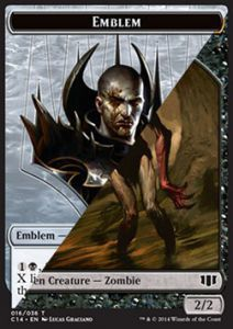 Token Magic Magic the Gathering Token/Jeton - Commander 2014 - Double : Embleme (nixilis) / Zombie B