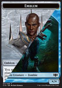 Tokens Magic Accessoires Pour Cartes Token/Jeton - Commander 2014 - Double : Embleme (tefeiri) / Zombie U