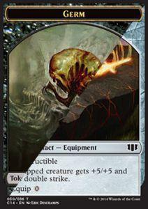 Tokens Magic Token/Jeton - Commander 2014 - Double : Lame de Forgepierre / Germe