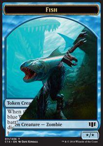 Tokens Magic Token/Jeton - Commander 2014 - Double : Poisson/ Zombie U