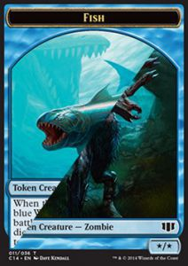Tokens Magic Magic the Gathering Token/Jeton - Commander 2014 - Double : Poisson/ Zombie U