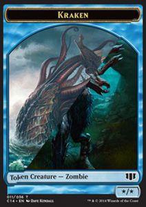 Tokens Magic Accessoires Pour Cartes Token/Jeton - Commander 2014 - Double : Kraken / Zombie U