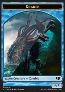 Tokens Magic Magic the Gathering Token/Jeton - Commander 2014 - Double : Kraken / Zombie U