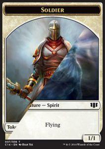 Tokens Magic Token/Jeton - Commander 2014 - Double : Esprit / Soldat