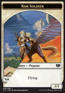Tokens Magic Token/Jeton - Commander 2014 - Double : Pégase / Kor Et Soldat
