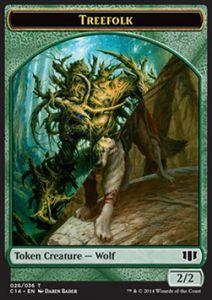 Token Magic Token/Jeton - Commander 2014 - Double : Sylvin / Loup