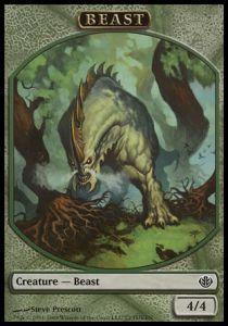 Tokens Magic Accessoires Pour Cartes Token/Jeton - Duel Decks: Garruk Vs Liliana N°2 - Beast 4/4
