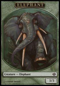 Tokens Magic Token/Jeton - Duel Decks: Garruk Vs Liliana N°3 - Elephant
