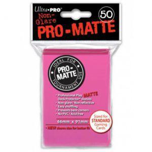 Protèges Cartes Accessoires Pour Cartes 50 pochettes Ultra Pro Matte - Rose Fluo - ACC