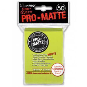 Protèges Cartes  50 pochettes - Pro Matte - Jaune Fluo