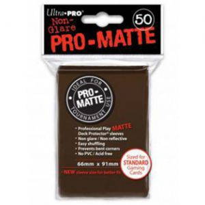 Protèges Cartes 50 pochettes - Pro Matte - Marron