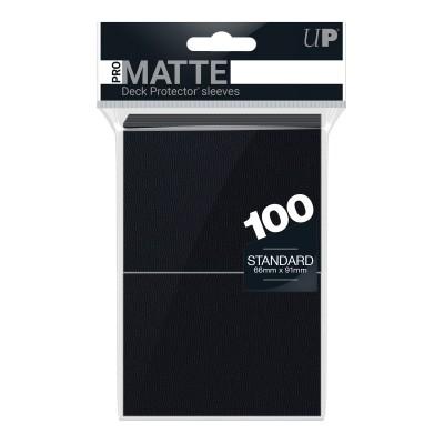 Protèges Cartes Accessoires Pour Cartes 100 pochettes - Pro Matte - Noir
