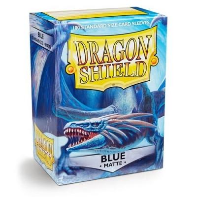 Protèges Cartes 100 Pochettes Dragon Shield Matte - Bleu - Acc