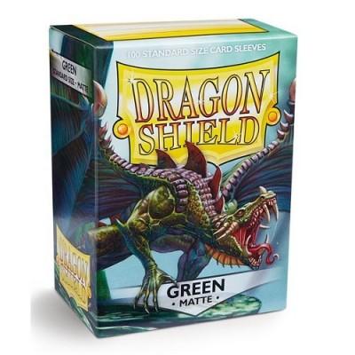Protèges Cartes Accessoires Pour Cartes 100 Pochettes Dragon Shield Matte - Vert - Acc