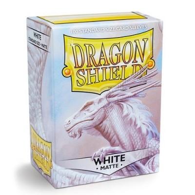 Protèges Cartes Accessoires Pour Cartes 100 Pochettes Dragon Shield Matte - Blanc - Acc