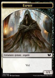 Tokens Magic Token/Jeton - Commander 2015 - Double : Ange/esprit W/b