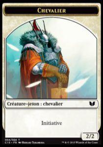 Tokens Magic Token/Jeton - Commander 2015 - Double :chevalier/esprit
