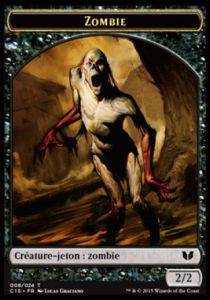 Tokens Magic Magic the Gathering Token/Jeton - Commander 2015 - Double :zombie/germe