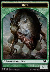 Tokens Magic Token/Jeton - Commander 2015 - Double :Bête/Serpent