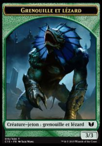 Tokens Magic Magic the Gathering Token/Jeton - Commander 2015 - Double :Grenouille/Germe